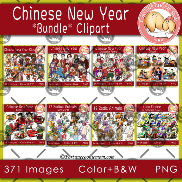 Chinese New Year bundle clipart