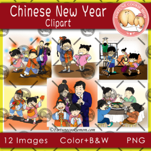 Chinese New Year traditions clipart