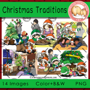 Christmas traditions clipart