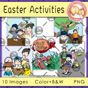 Easter activities clipart