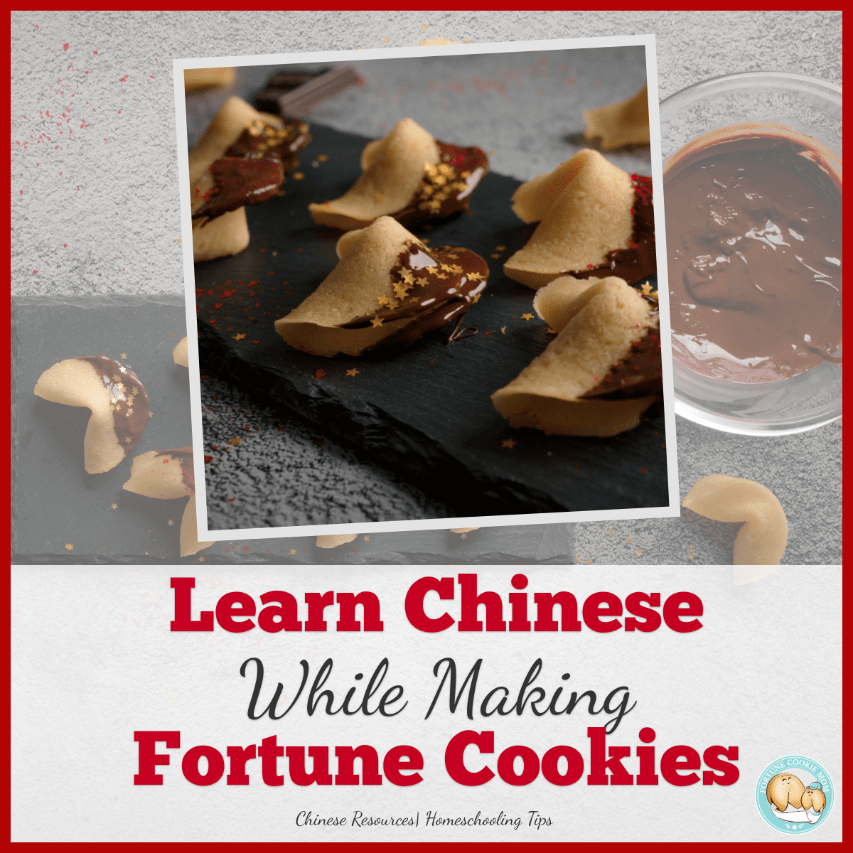 Learn Chinese While Making Homemade Fortune Cookies with Kids