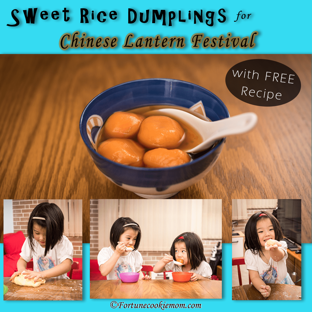 Sweet Rice Dumplings for Chinese Lantern Festival