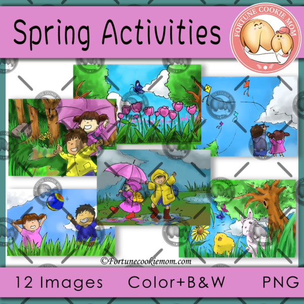 spring activities clipart