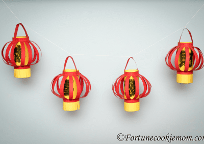 Easy Chinese New Year Rounded Lanterns to Make with Your Kids