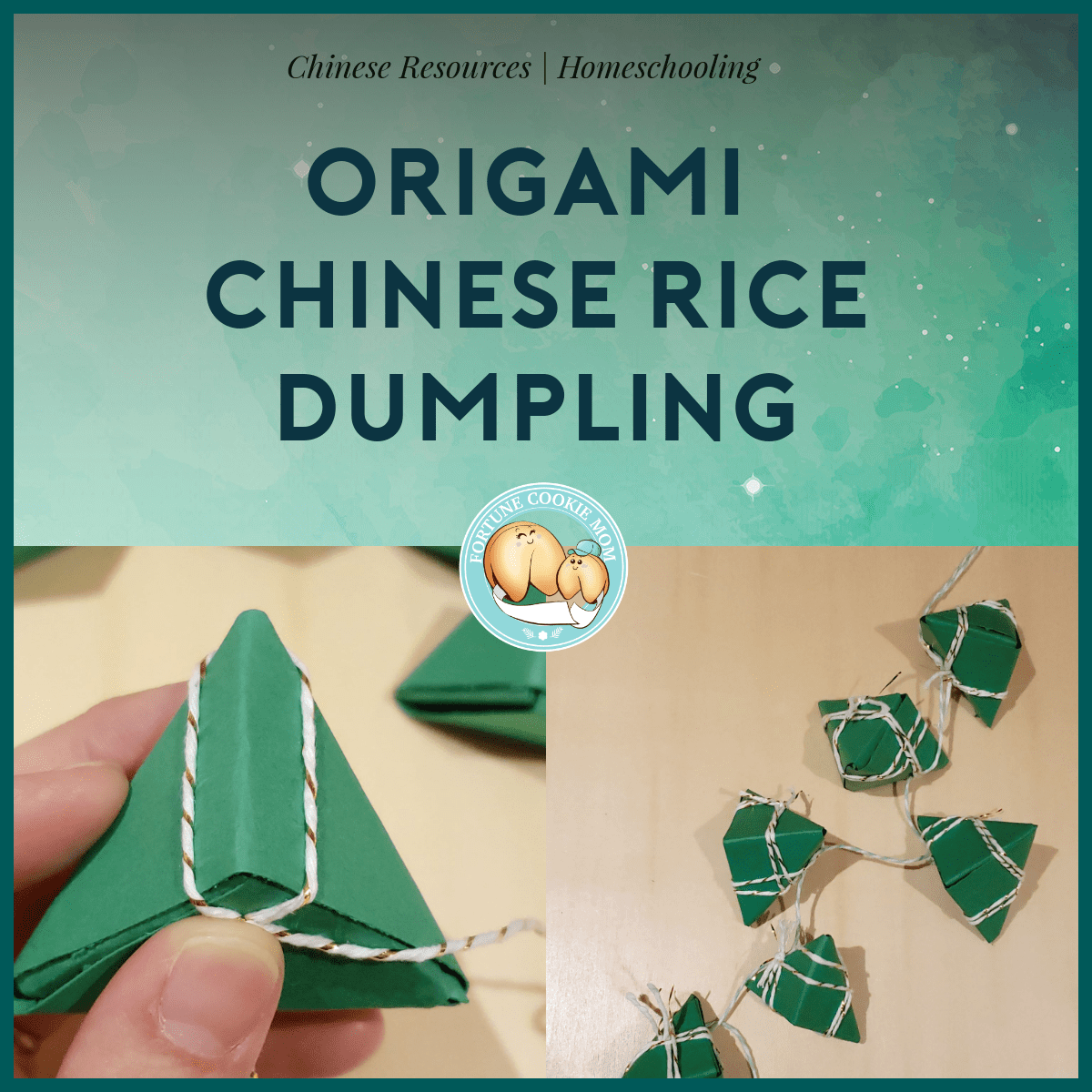 Chinese Art & Crafts: Origami Paper Rice Dumplings